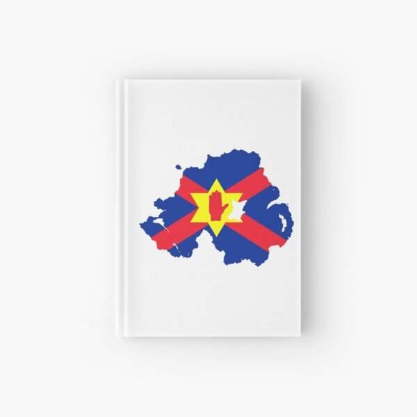 Ulster Nation Flag Map of Northern Ireland Hardcover Journal