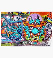 Graffiti Wall Art Tengu. Poster