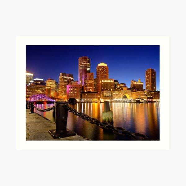 Boston Harbor Cityscape Art Print
