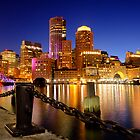 Boston Harbor Cityscape by jswolfphoto