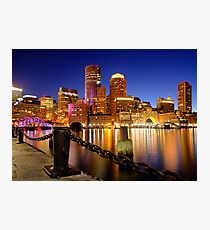 Boston Harbor Cityscape Photographic Print