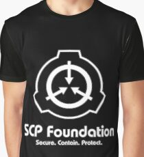 SCP Foundation (in White) Graphic T-Shirt