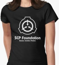 SCP Foundation (in White) Women's Fitted T-Shirt