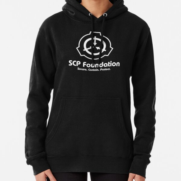 SCP Foundation (in White) Pullover Hoodie