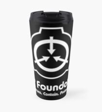 SCP Foundation (in White) Travel Mug