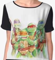 TMNT Watercolor Chiffon Top