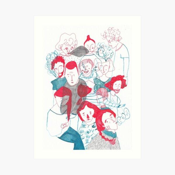 people are people Art Print