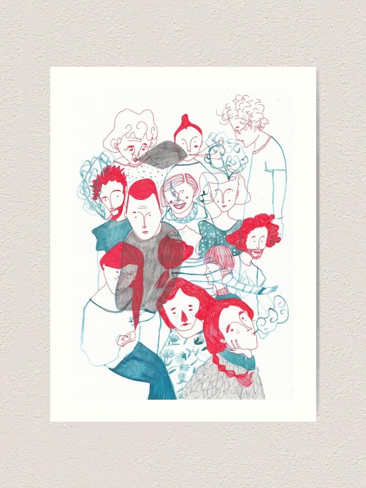 Alternate view of people are people Art Print