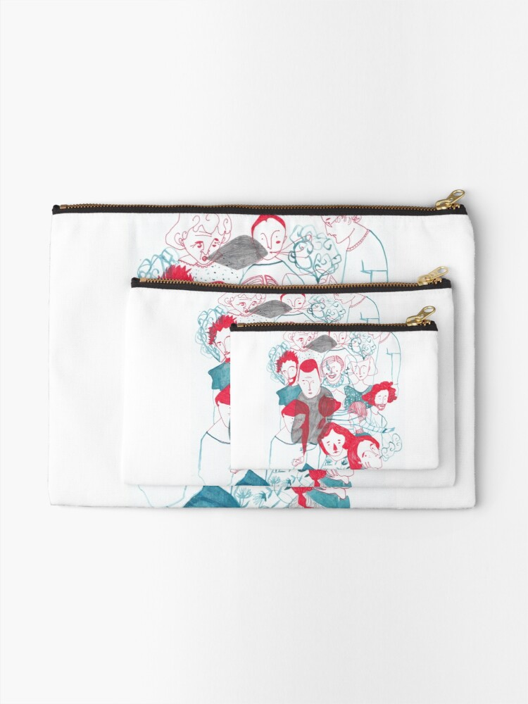 Alternate view of people are people Zipper Pouch
