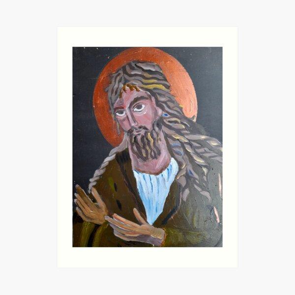 JOHN THE BAPTIST ICON Art Print