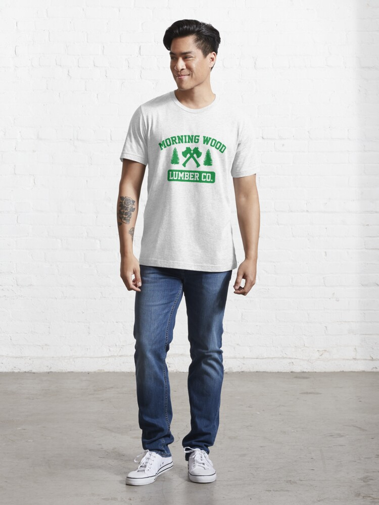 Alternate view of Morning Wood Lumber Co. Essential T-Shirt