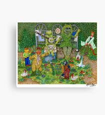 The Muppets Garden Canvas Print