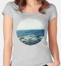 Ocean Blue Women's Fitted Scoop T-Shirt