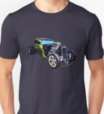 1934 Ford Three Window Coupe Hot Rod T-Shirt Unisex T-Shirt