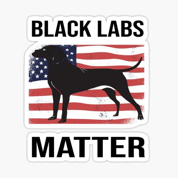 Unabhängigkeitstag 4. Juli Black Labs Lives Matter Parodie Sticker