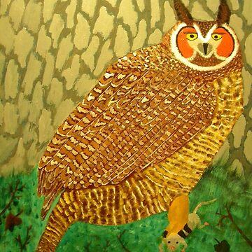 Great Horned Owl by butterflyartman