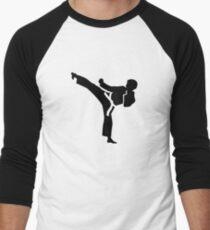 Karate fighter Men's Baseball ¾ T-Shirt