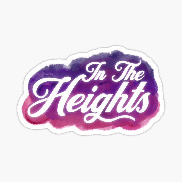 In the heights movie  Sticker
