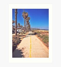 Walking the Beach Art Print
