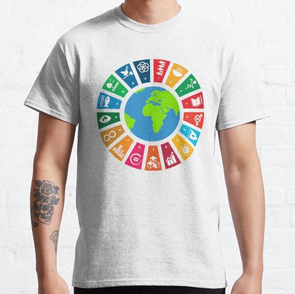 ODD des Nations Unies | Logo des objectifs mondiaux de l'ONU | Objectifs de développement durable des Nations Unies à l'horizon 2030 T-shirt classique