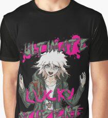 Camiseta gráfica Nagito Komaeda: el mejor estudiante afortunado
