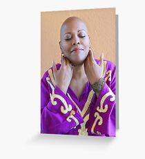bald is divinely beautiful Greeting Card