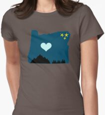 Oregon, home sweet home Women's Fitted T-Shirt