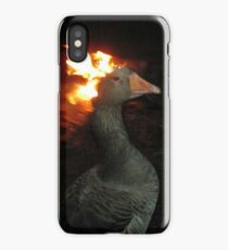 Goose on Fire iPhone Case/Skin