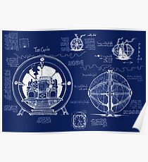 Time Machine Blueprints Poster