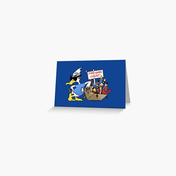 4th Of July Duck Greeting Card