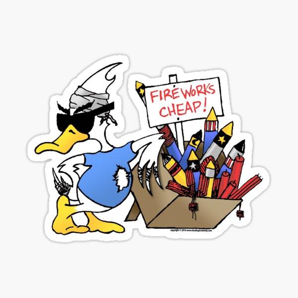 4th Of July Duck Sticker
