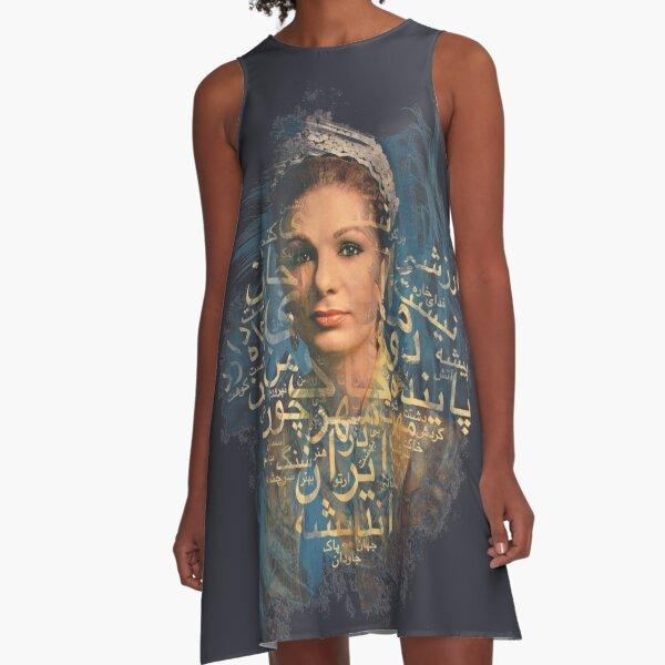 Queen of Persia (Farah Diba) A-Line Dress
