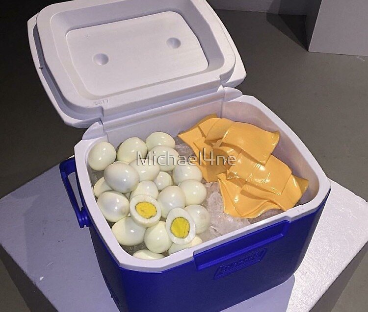 Eggs and Cheese in a Cooler by Michael4ne