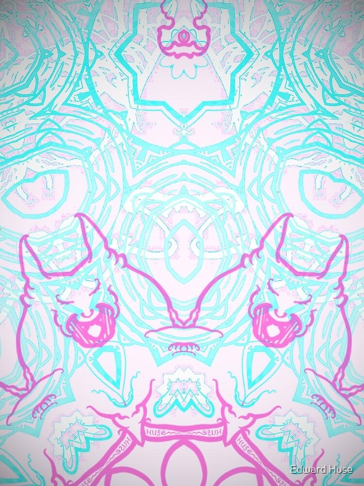Devil Dog Magenta Blue by EdwardHuse
