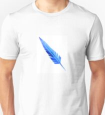 Handcrafted Blue Feather Unisex T-Shirt