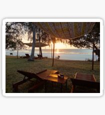 Kenyan African beach sunrise 2 Sticker