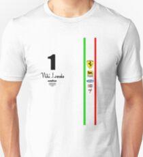 Camiseta ajustada Niki Lauda Ferarri F1 1976 1975