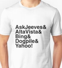 """Helvetica """"&"""" - Search Engines T-Shirt"""