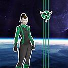 Living Starship Ciirtah female by cheekydingo