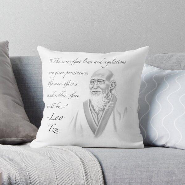 Libertarian Lao Tzu Throw Pillow