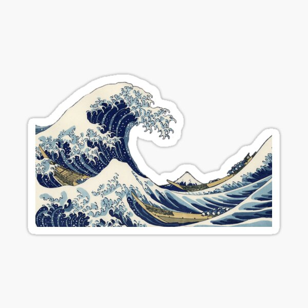 Grande vague au large de Kanagawa Sticker