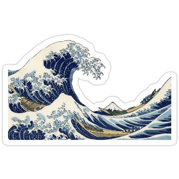 "The Wave Nanaimo >> ""Great Wave off Kanagawa"" Stickers by manddyliu | Redbubble"