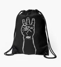 HiiiPOWER (Hand Version / White) Drawstring Bag