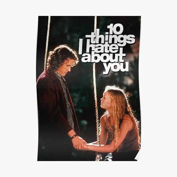 10 Things I Hate About You 90s película Póster