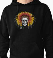Native American Skull Sweat à capuche