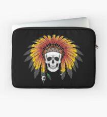 Native American Skull Laptop Sleeve