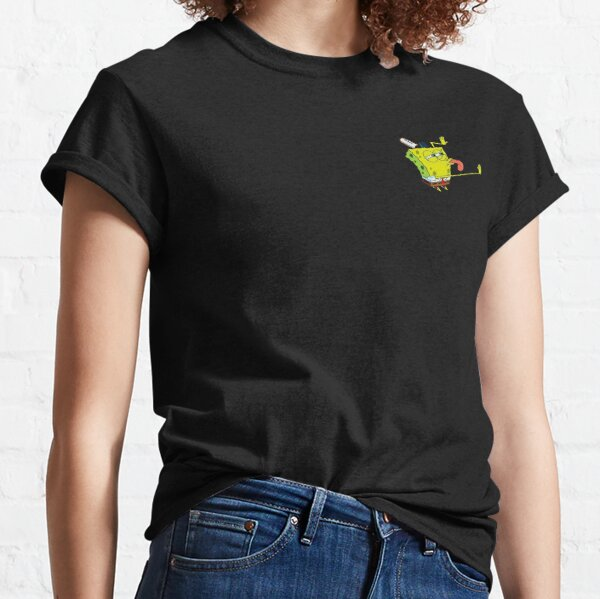 Transparent SpongeBob Lick Meme Classic T-Shirt