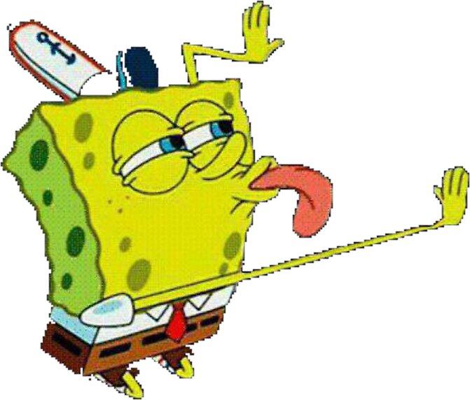 """Transparent SpongeBob Lick Meme"" Stickers by niennajane ..."