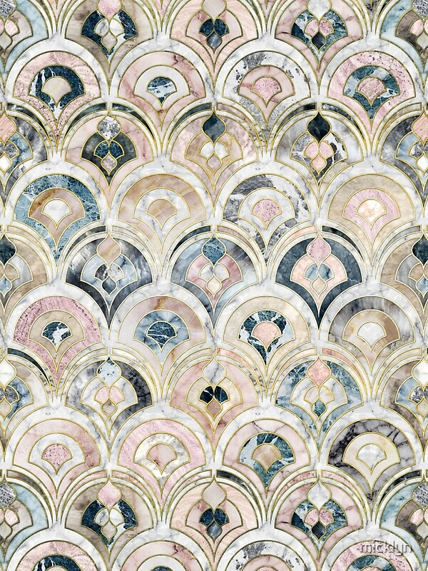 Quot Art Deco Marble Tiles In Soft Pastels Quot By Micklyn Redbubble