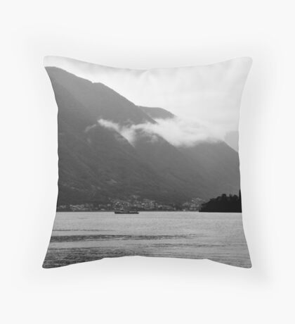 Low Cloud over Lake Como Throw Pillow